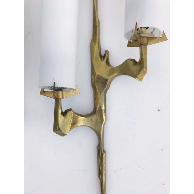 Felix Agostini 1960s Agostini Sconces by Maison Arlus - a Pair For Sale - Image 4 of 6