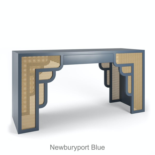 Not Yet Made - Made To Order Habanera Console Table - Newburyport Blue For Sale - Image 5 of 5