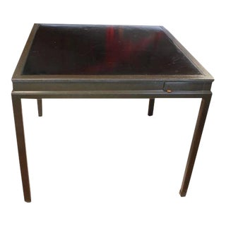 Mid-Century Dunbar Leather Top Game Table