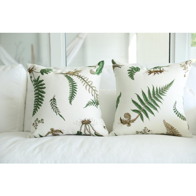 Contemporary Stensöta (Fern) Textile Pillows - a Pair 18 X 18 For Sale - Image 3 of 6