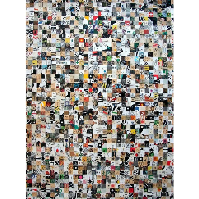 """Abstract Urso Colorful Contemporary Collage """"Stop Go"""" For Sale - Image 3 of 4"""