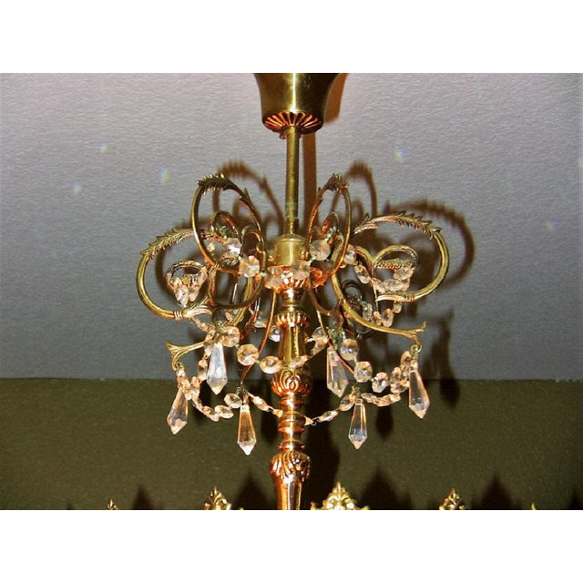 Late 19th Century 19c French Crystal Ormolu Chandelier For Sale - Image 5 of 8