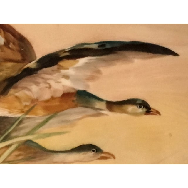 French Antique French Porcelain Game Bird Hand Painted Plate, Signed For Sale - Image 3 of 13