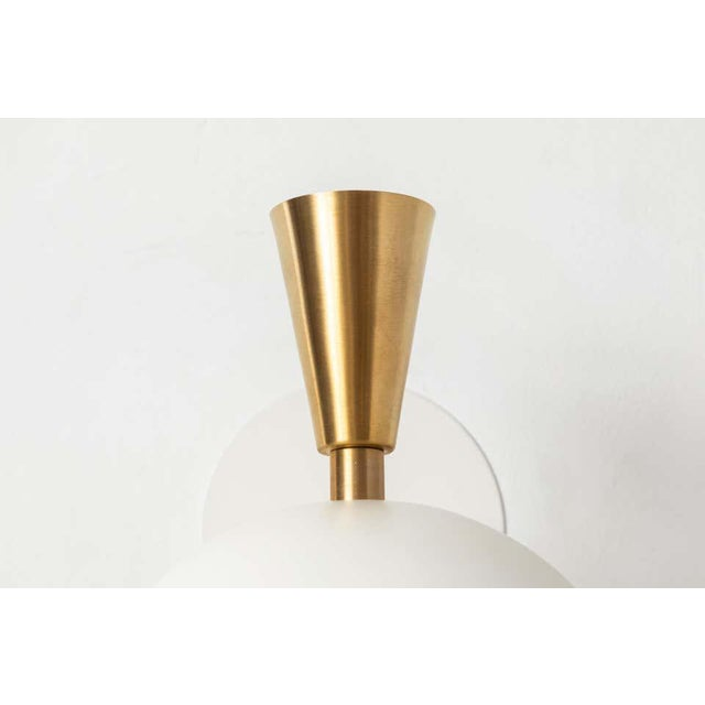 'Lola Ii' Sconces in White Metal and Brass - a Pair For Sale - Image 10 of 13