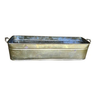 Boho Chic Hammered Brass Planter For Sale