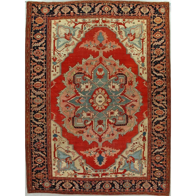 Antique Serapi Rug For Sale - Image 4 of 4