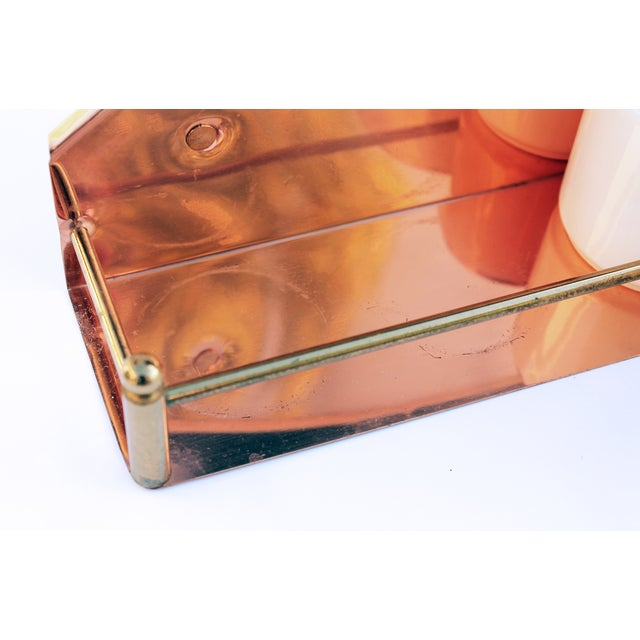 Vintage Copper Spice Rack & Canisters - Set of 7 - Image 6 of 8