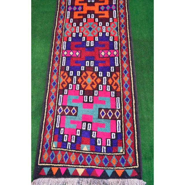 Long Runner Kurdish Hand-Knotted Rug - 2′9″ × 15′5″ - Image 9 of 10