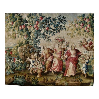 17th Century Aubusson Tapestry XVII Century Wall Hanging For Sale