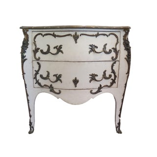 19th Century Swedish Painted Rococo Commode For Sale