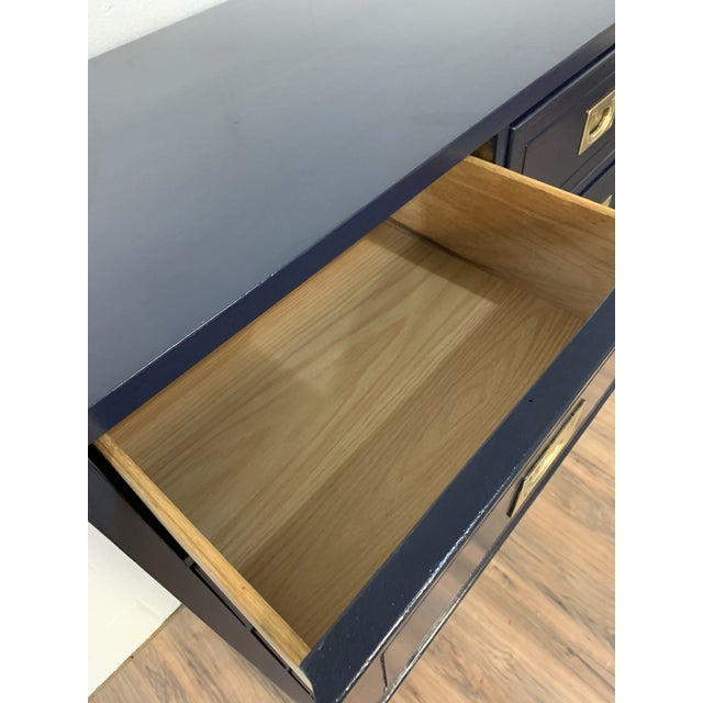 Metal 1950s Campaign Style Refinished Dresser For Sale - Image 7 of 8