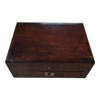English Mahogany Antique Box
