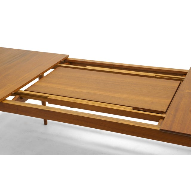 Finn Juhl Teak Dining Table, Expandable with Two Leaves, Exceptional Condition - Image 8 of 11