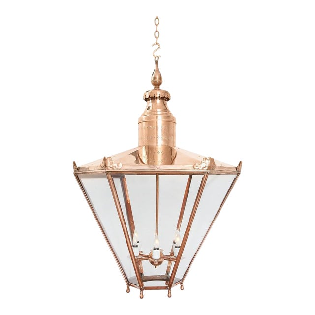 Large Copper Lantern For Sale
