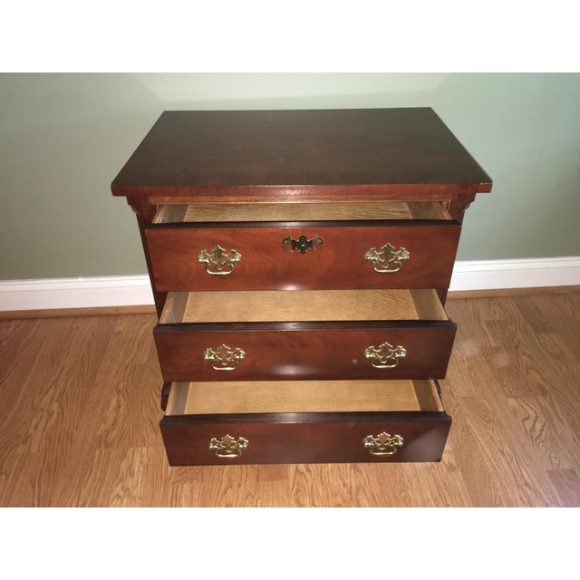 Baker Chippendale Style Mahogany Night Stand - Image 3 of 4