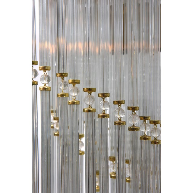 Czech Spiral Crystal Ceiling Fixture For Sale - Image 4 of 5