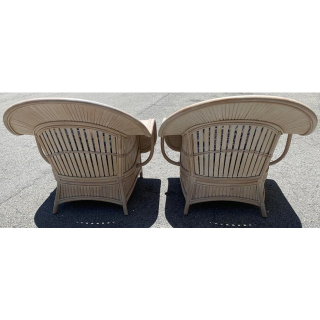 1970s Vintage Bamboo Lounge Chairs - a Pair For Sale In West Palm - Image 6 of 10