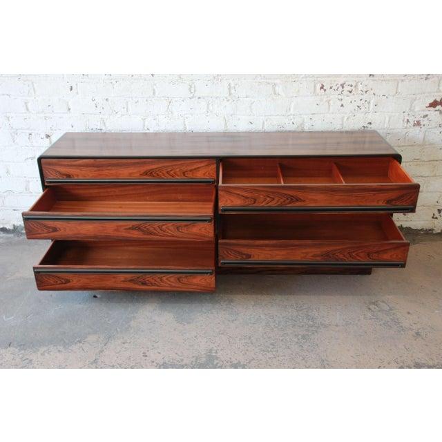 Westnofa Scandinavian Modern Rosewood Long Dresser For Sale In South Bend - Image 6 of 11