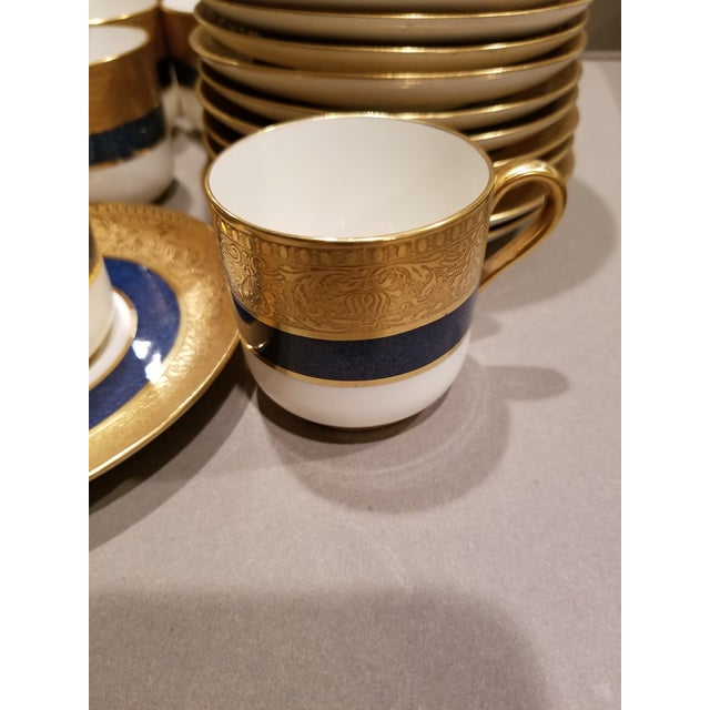 Spode Eleven Spode Blue White and Gold Demitasse For Sale - Image 4 of 8