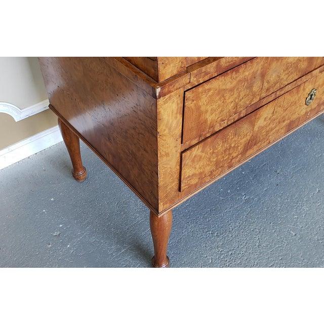 Restored Antique 19th Century Burled Elm Roll Top Cylinder Desk C1860 For Sale - Image 11 of 13