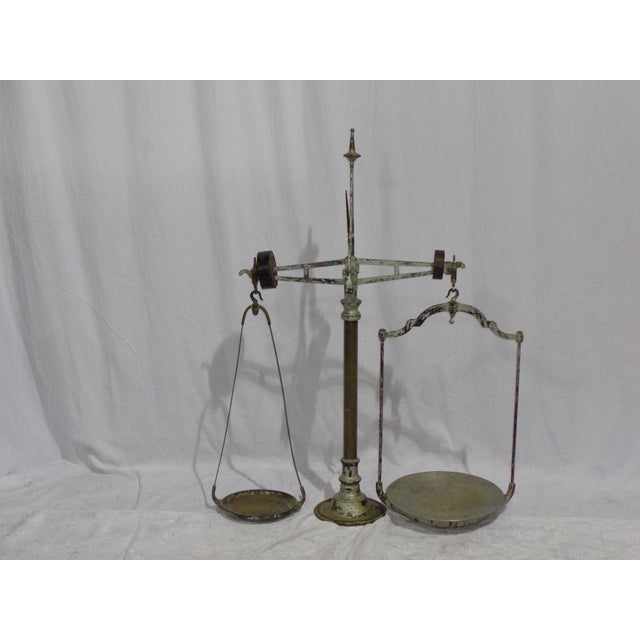 Antique French Industrial Butcher Scale - Image 7 of 8