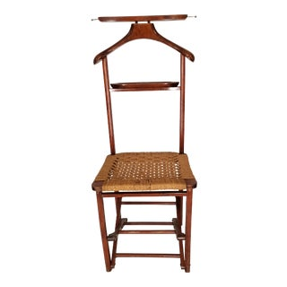 Men's Valet Wicker Chair For Sale