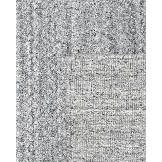 Sanam, Contemporary Solid Hand Loomed Area Rug, Gray, 8 X 10 For Sale - Image 4 of 9
