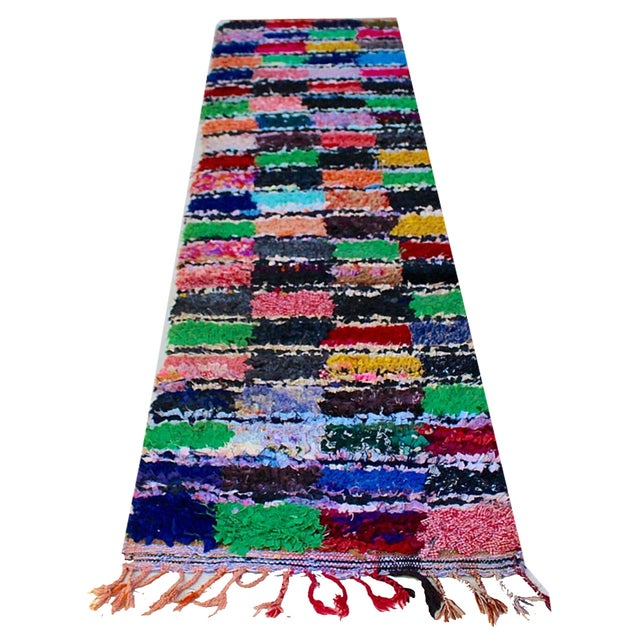Moroccan Colorful Runner Rug - 2'3'' x 8'7'' - Image 1 of 2