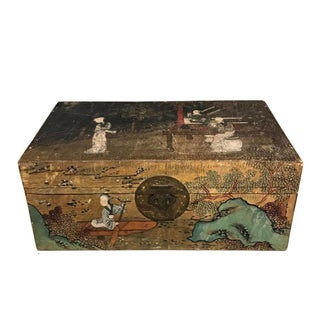 Late 19th Century Antique Asian Papier-Mâché Box For Sale