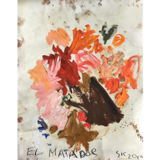 'El Matador' Abstract Oil Painting by Sean Kratzert For Sale