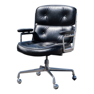 """Eames Executive """"Time-Life"""" Chair in Black Leather by Charles & Ray Eames for Herman Miller For Sale"""