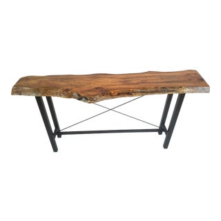 Live Edge Oak Console Table