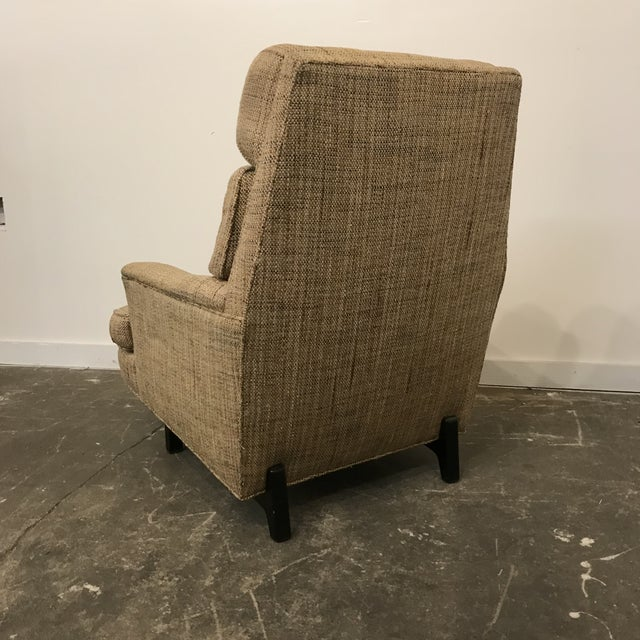 1960s Mid-Century Modern Dunbar High Back Club Chair For Sale - Image 5 of 8