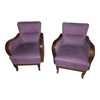 Art Deco Chairs - A Pair For Sale
