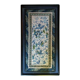 Chinese Silk Embroidery 19th Century For Sale