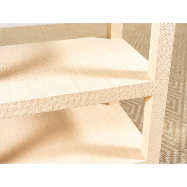 Modern Grasscloth Side Table For Sale - Image 4 of 6