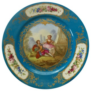 Hand-Painted French Sevres Porcelain Plate