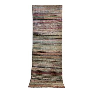 Antique Hand Woven Turkish Kilim Rug Runner - 3′3″ × 9′8″