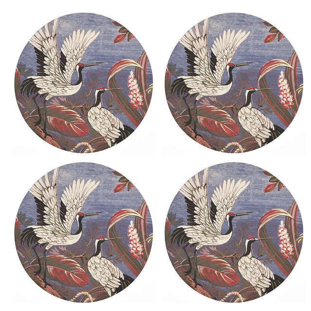 """Contemporary Summer Palace Ducal, 16"""" Round Pebble Placemats, Set of 4 For Sale - Image 3 of 3"""