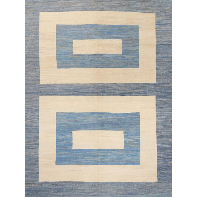 Textile Schumacher Kilim Area Rug in Hand-Woven Wool, Patterson Flynn Martin For Sale - Image 7 of 7