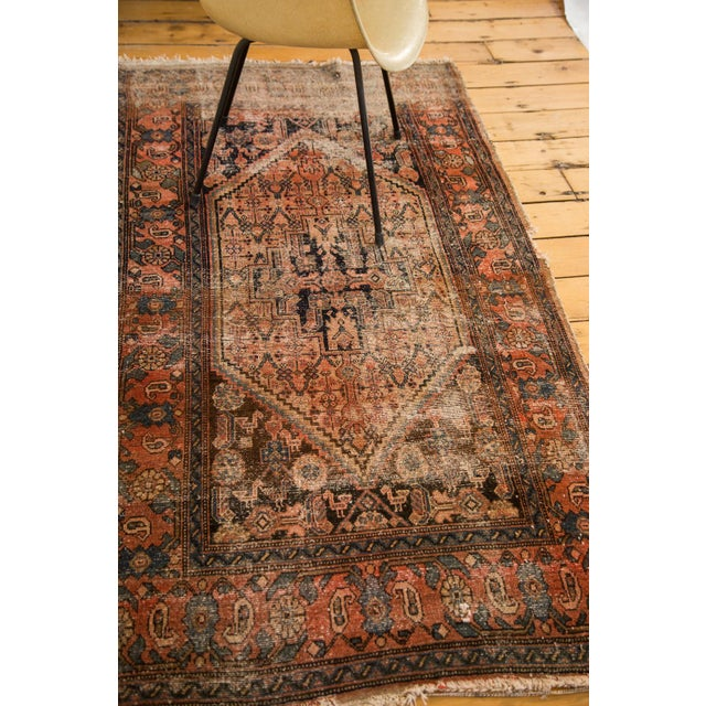"Antique Distressed Malayer Rug - 3'4"" X 6'2"" - Image 6 of 7"
