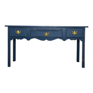 Modern Farmhouse Navy Desk/Console Table For Sale