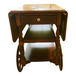 1960s Ethan Allen Bar Tea Cart