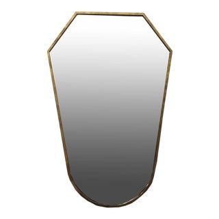 C.1960s Brass Framed Italian Mirror For Sale