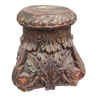 19th Century Antique Architectural Pillar Base For Sale