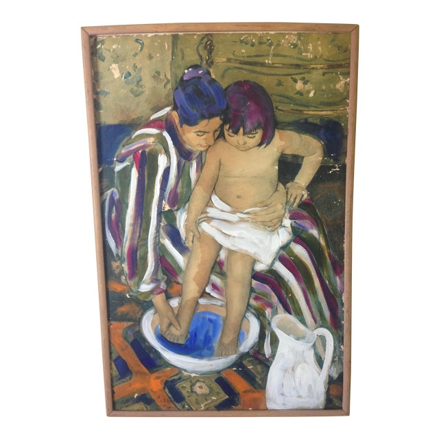 The Child's Bath' Replica Painting - Image 1 of 4