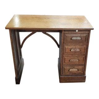 American Oak Child's Desk C.1900 For Sale