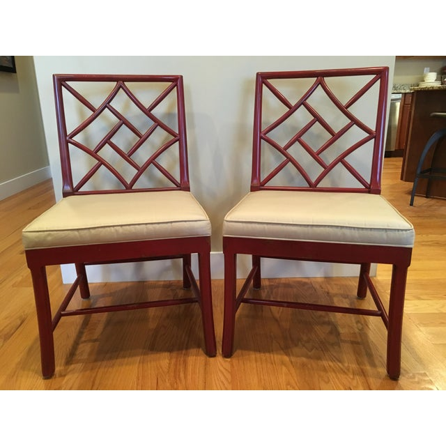 Hickory Chair Fretwork James River Side Chairs - A Pair - Image 4 of 10