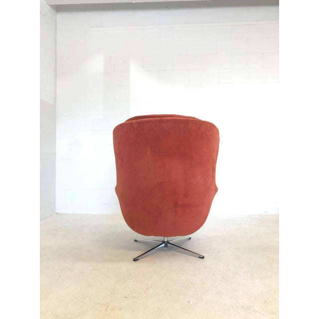 Overman Sweden Mid Century Modern Overman Egg Chair For Sale - Image 4 of 8