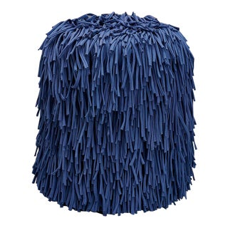 New Blue Woody Pouf Designed by Houtique For Sale